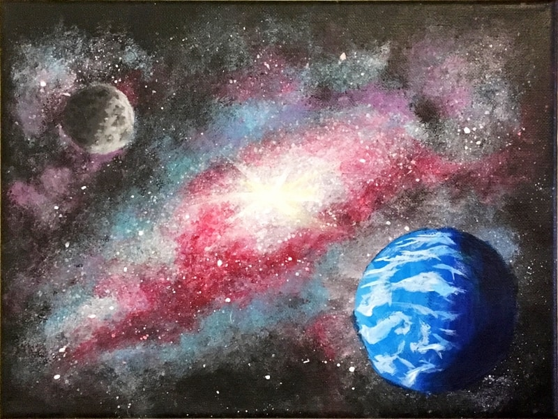 To complete this painting I had to learn to paint spheres!