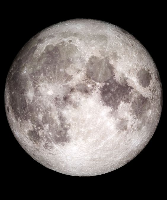 Picture of Earth's moon originally taken by NASA.